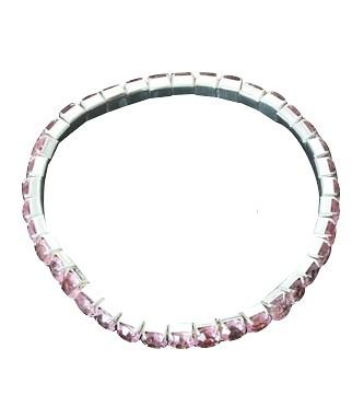 Prinsessen Armbandje Roze steentjes