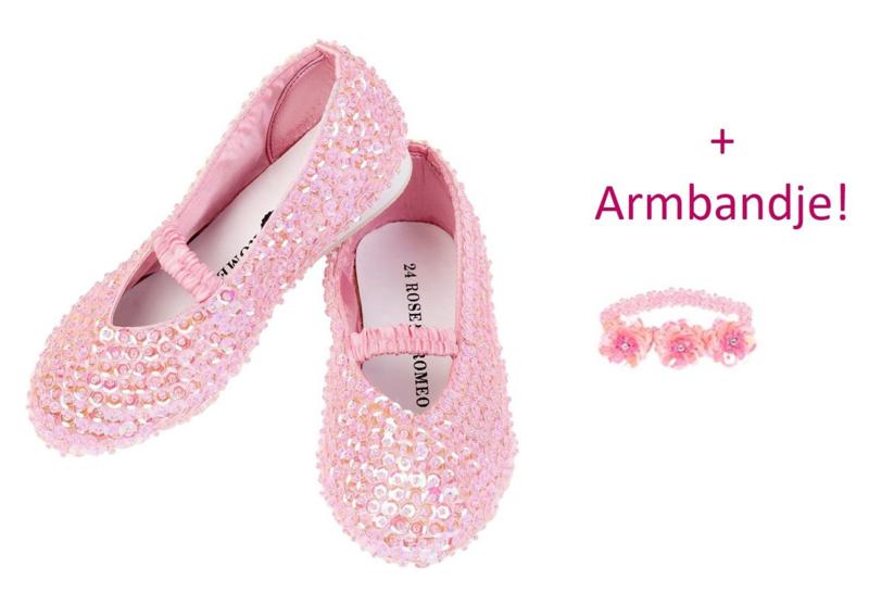 Prinsessen Schoentjes Roze + armbandje