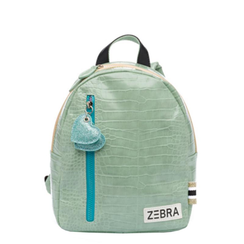 Zebra Rugzak Croco Mint (s) - sale