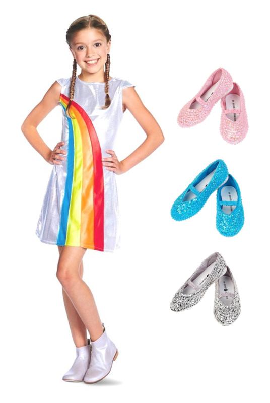 K3 regenboog jurk glitter schoentjes pakket