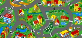 Speelkleed Little Village op maat