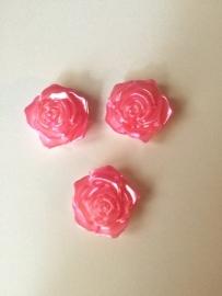 Flatback  roosje parelmoer roze