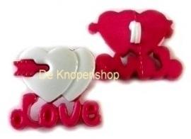 KN564 Love & wit hartje