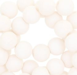 Kralen acryl mat 10 mm off white