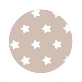 Ster wit op beige 50cm