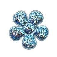 Glitter bloem Frozen blauw 3,5cm