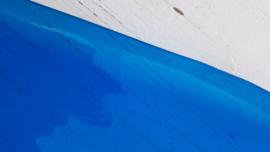 Leer doorzichtig kristal blauw 10x30 cm