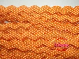 Zigzagband oranje polkadot 5mm