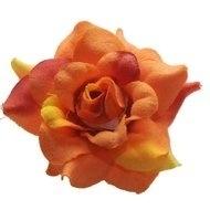 Roos oranje stof 4,5cm