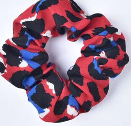Scrunchies Haarwokkel tijger/panter rood zwart blauw ivoor