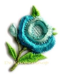 A0189a Blauwe bloem opstrijk