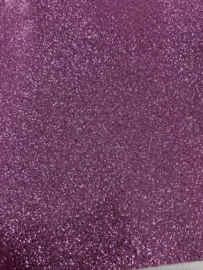 Glitter leer roze  20x30 cm