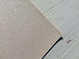 Glitter Leer White 20x30 cm