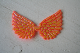 Vleugels  oranje glimmend
