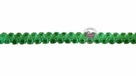 Elastisch zigzaghaarband groen