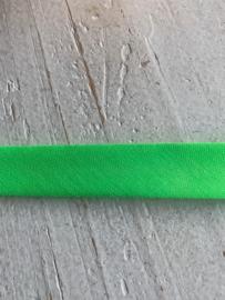 Biasband neon groen katoen