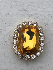 Flatback rhinestone  ovaal  goud luxe  gold