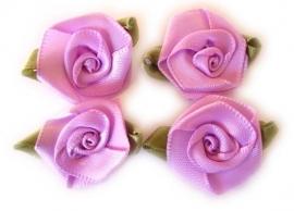 RBA1b Roosjes met blad lila 3,5cm  (4)
