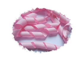 Krullen lint roze7cm pst