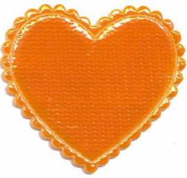 Applicatie glim hart oranje groot