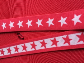 elastisch sterrenband fuchsia