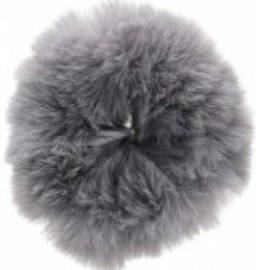 Scrunchie Haarwokkel fluffy grijs xl
