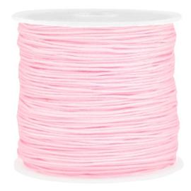 Macramé draad licht roze 0.8mm
