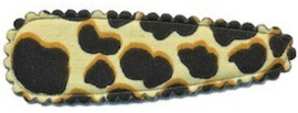 Kniphoesje panter/tijger ivoor katoen