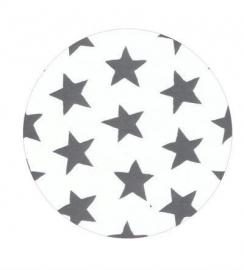 Ster grijs op wit 50cm