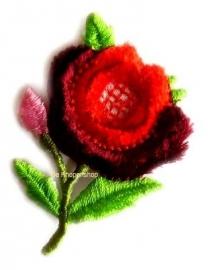 A0189 Rode bloem opstrijk