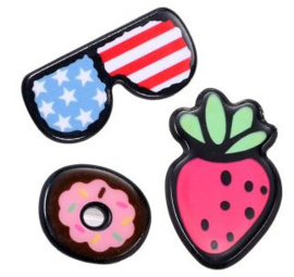 Broches/Pins Bril-aarbei-donut
