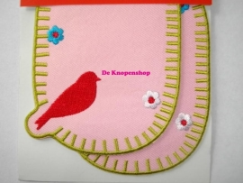 Kniestukken vogeltje roze (2st)