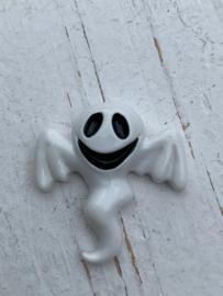 Flatback spook wit met vleugel halloween