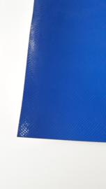 Leer slangen print fijn royal blue/cobalt blauw