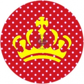 Flatback  KROON polkadot rood (k598)