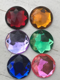 Flatback rhinestone  diamant 2.5 cm kies jou kleur (2)