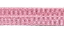 Elastisch biasband licht roze 2cm