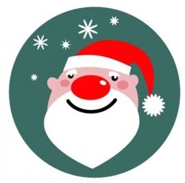 flatback & button kerstman