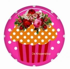 Flatback cupcake oranje (k789)