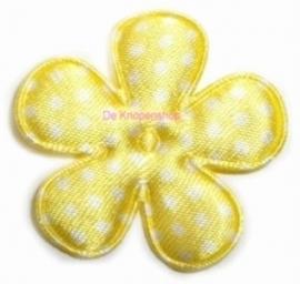 A0350 Polkadot bloemen geel 3,5cm