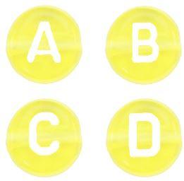 Letterkralen geel transparant