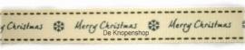 Vintage lint Merry Christmas (grijze tekst)