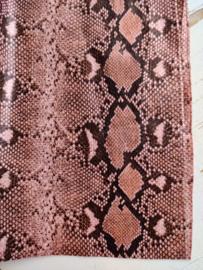 Slangen print leer  roze glans