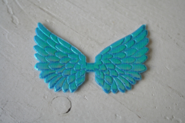 Vleugels  aqua glimmend