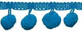 Pompomband blauw 2cm