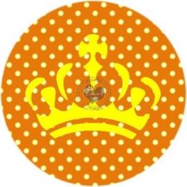 Flatback  KROON polkadot oranje (k599)