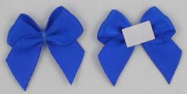 Zelfklevende (plak) strikje royal blue- kobalt
