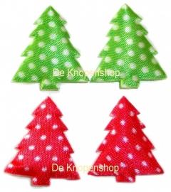 A0204c Rood & groen kerstboom polka dot kies de kleur