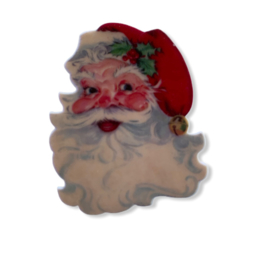 Flatback kerstman hoofd