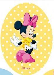 Minnie Mouse applicaties opstrijkbaar  polkadot geel